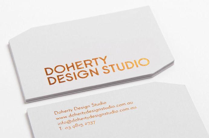 Doherty Design Studio #print #business #card #foil #stamp