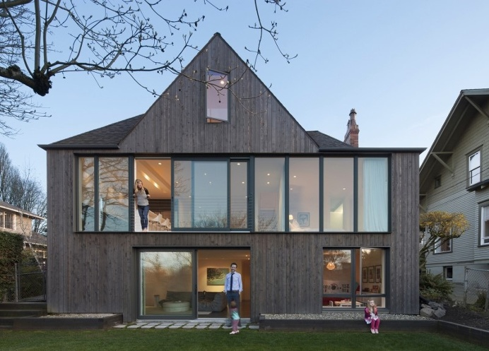 1930 Brick Tudor Transformed in a House with Two Faces