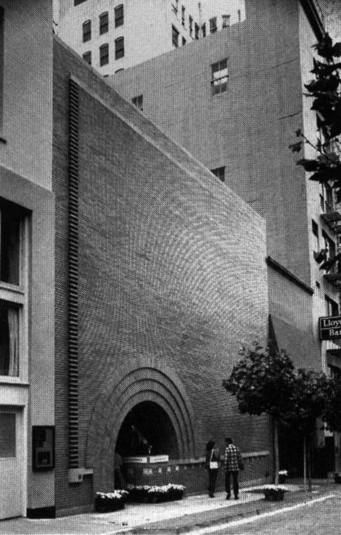 Frank Lloyd Wright, Morris Store, San Francisco, California, 1948 1949 #architecture #facades