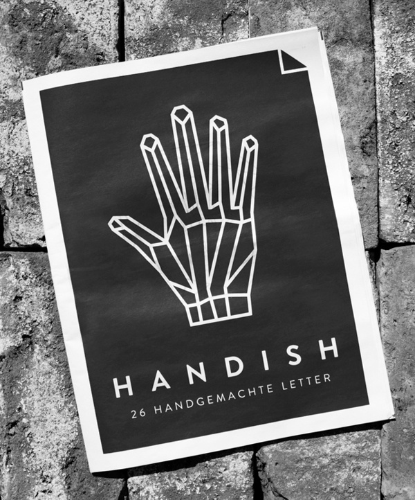 Handish by Tanja Angerbrandt #geometry #white #linework #black #and #hand