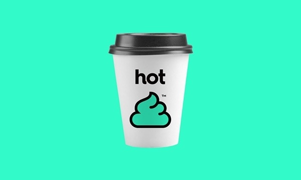 Cup. #white #shit #hot #coffee #cup #green