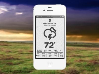 Dribbble - Weather App by Joel Reid #weather #app #interface