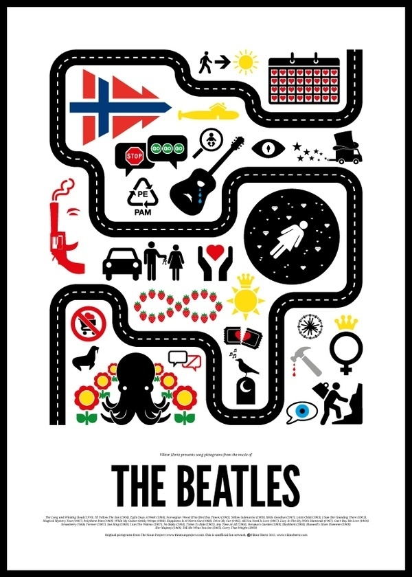 Pictogram rock bands posters | 123 Inspiration #posters