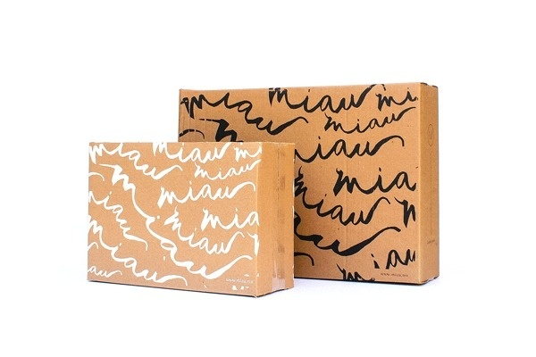 Miau on Behance #packing #cardboard #packaging #box #leather #pack