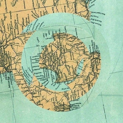 Luis Dourado : Burstoid #collage #map