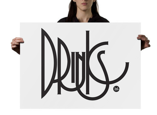 Typography inspiration #drinks #typography