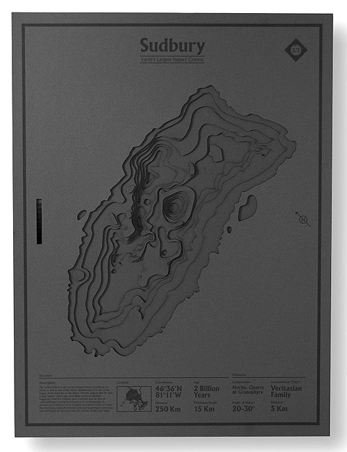 CJWHO ™ (Earth's Largest Impact Craters Poster by Nicholas...) #craters #impact #print #design #illustration #posters #art #clever