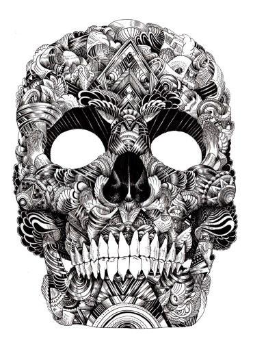370x520.jpeg (JPEG Image, 370×520 pixels) #ink #iain #illustration #skull #macarthur