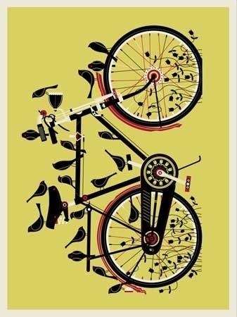 YELLOWBIKEWEB.jpg 337×450 pixels #studios #methane #bird #bike #poster
