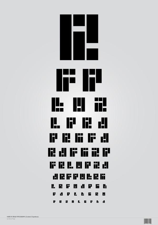 Coded Typeface on Behance #coded #behance #typeface