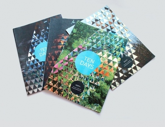 """Ten Days"" brochure for the bi-annual arts festival in Tasmania #corporate #design"