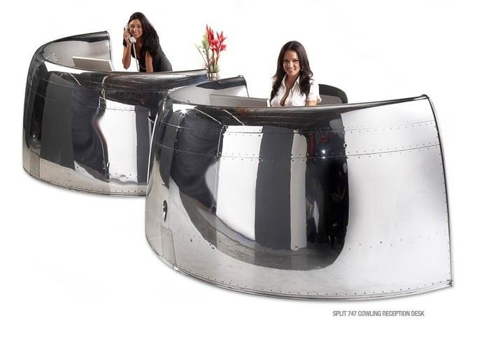 Futuristic furniture from retired airplanes - www.homeworlddesign (18) #motoart #furnituredesign