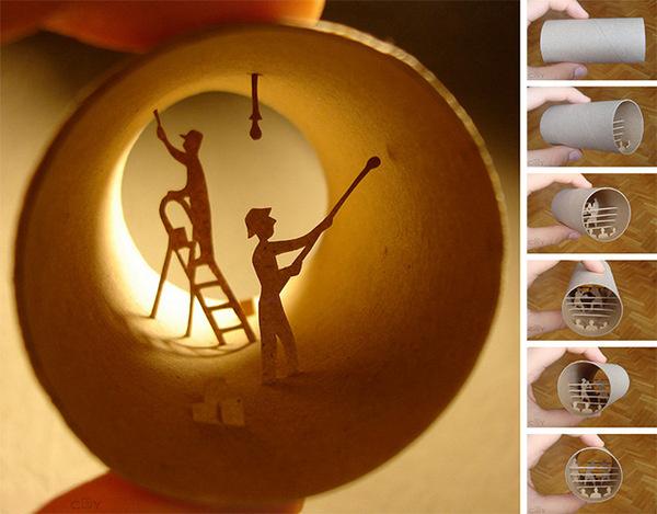 Rouleaux: Anastassia Elias' New Book of Toilet Paper Roll SculpturesJune 19 #toilet #elias #card #tube #anastassia #roll #paper