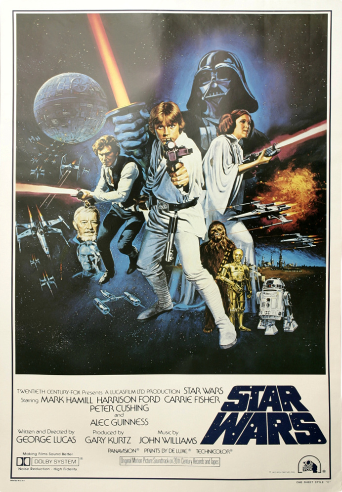 Star wars original movie poster 1977