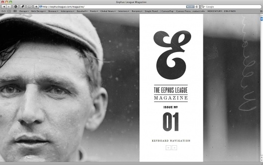 Eephus League #white #black #and #baseball #type #magazine