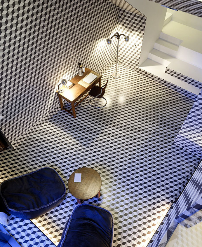 Snow Hotel turn upside down walls floors #hotel #interior #design #decor