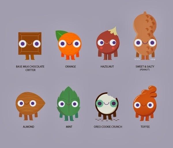 Cadbury Characters by Juan Molinet #arts #illustrations #inspirations