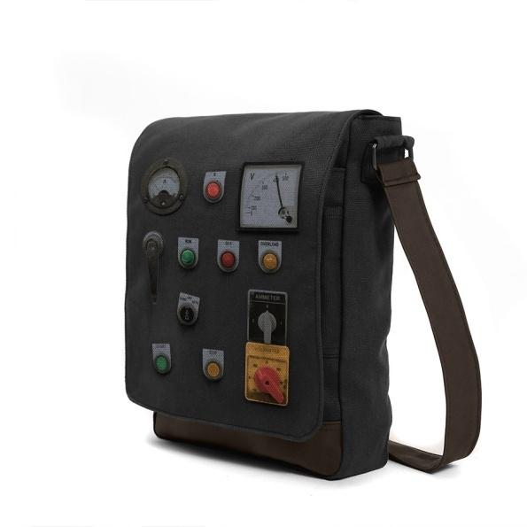 #control panel #beige #bag #messenger #shoulderbag #kerouac #button #switch #controlpanel #electric #indicator