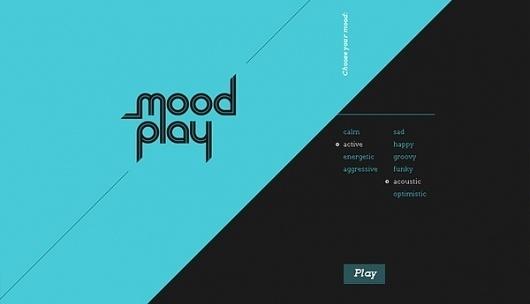 MoodPlay on the Behance Network #modern #player #mood #webdesign #music