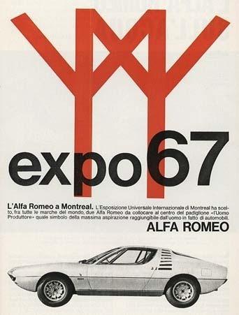 Expo67 ad #expo #romeo #67 #ad #alfa #car