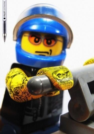 Pilot Extrafine: Lego Tattoos | NiceFuckingGraphics!