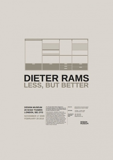 Dieter Rams: Less, But More on the Behance Network #design #rams #poster #dieter #typography