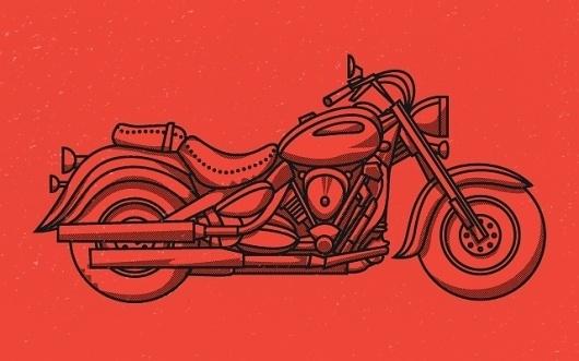 Tim Boelaars #illustration #vector #red #motorcycle