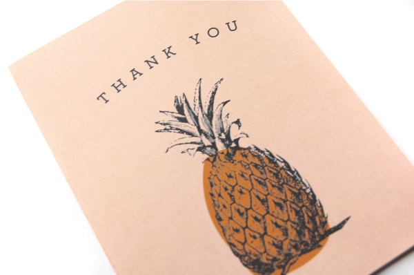 Pineapple thank you card #tropical #you #stationary #card #thank #pineapple
