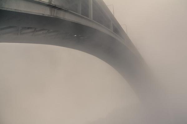 endless fog #fog #alvaromartino #portugal #photography #porto #bridge