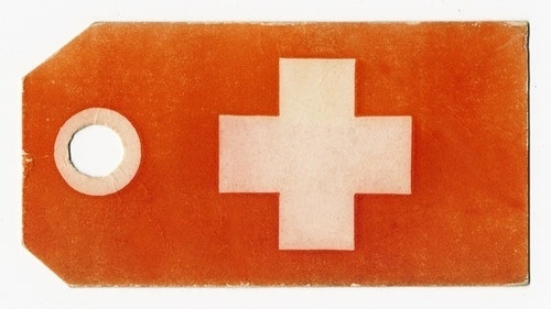 HIGHEST COMMON DENOMINATOR #red #cross #cream #hang #simple #tag