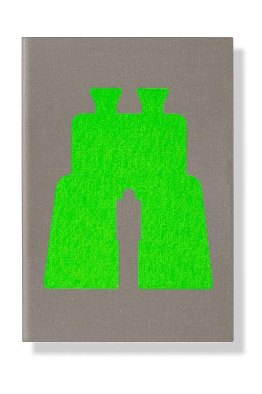 Noma Bar, Binoculars, book, cover, green, illustration, negative space