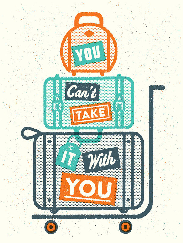 You_cant_take_it_final #illustration #retro #travel #texture