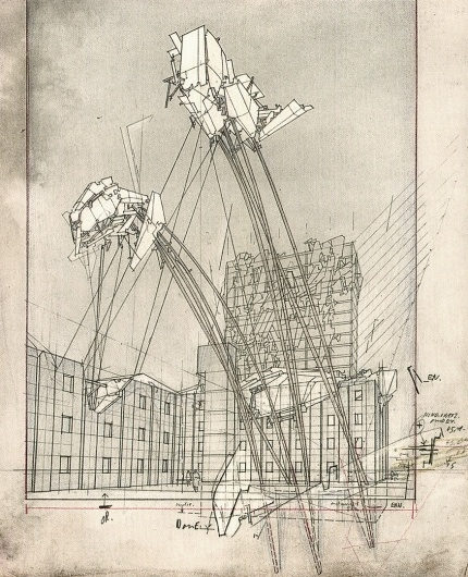 HIGH HOUSES « LEBBEUS WOODS #illustration #architecture
