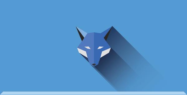 Flat animals   Part one on Behance #fox