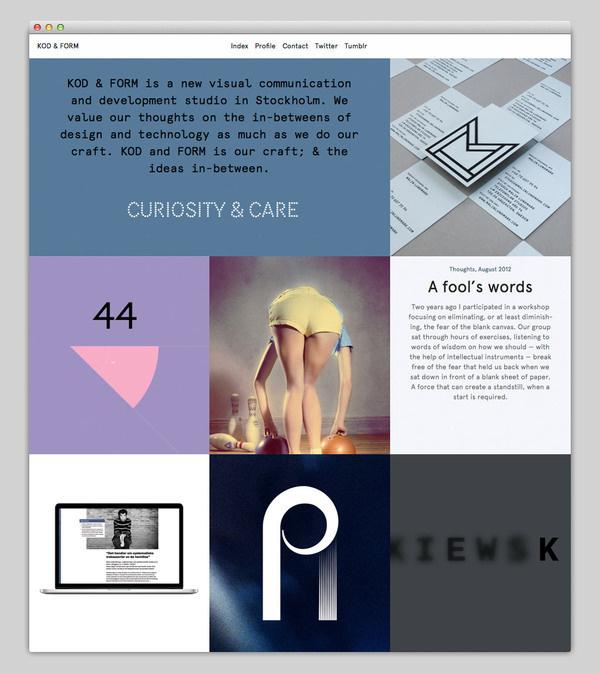 KOD & FORM #design #website #grid #layout #web