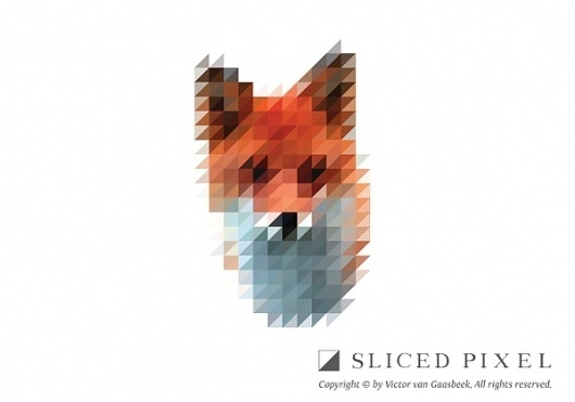 Sliced Pixel Project on the Behance Network #pixel #fox #sliced