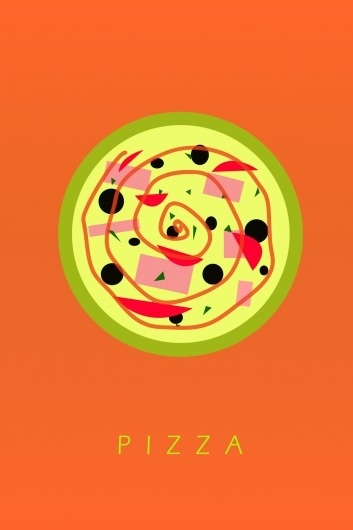 The Daily Menu - PIZZA TODAY #illustration #pizza