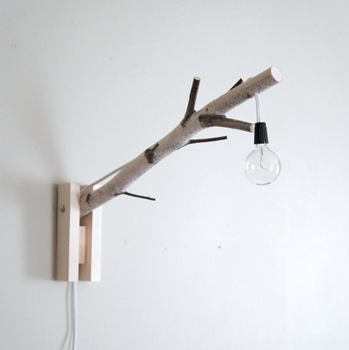 urban + forest #interior #lamp #branch #flashbulb #wood #nature #idea #forest