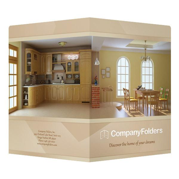 Warm Home Real Estate Folder Template (Front and Back View) #realtor #home #real #template #estate