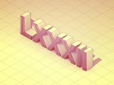 Dribbble - '82 by Timothy J. Reynolds #lxxiii #illustration #logo #1982 #typography