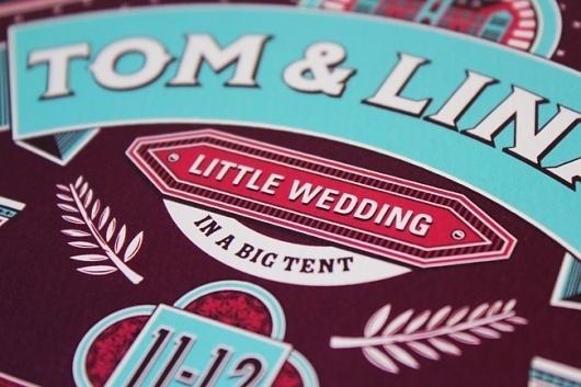 Ginger Monkey :: Tom Lane :: Illustration :: Design :: Typography :: Wedding Invite