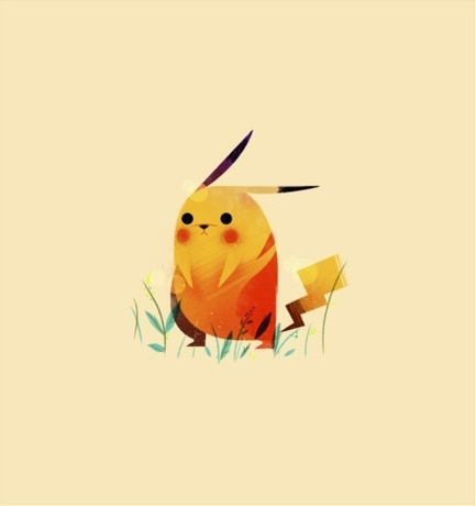 Olly Moss #illustration #pikachu