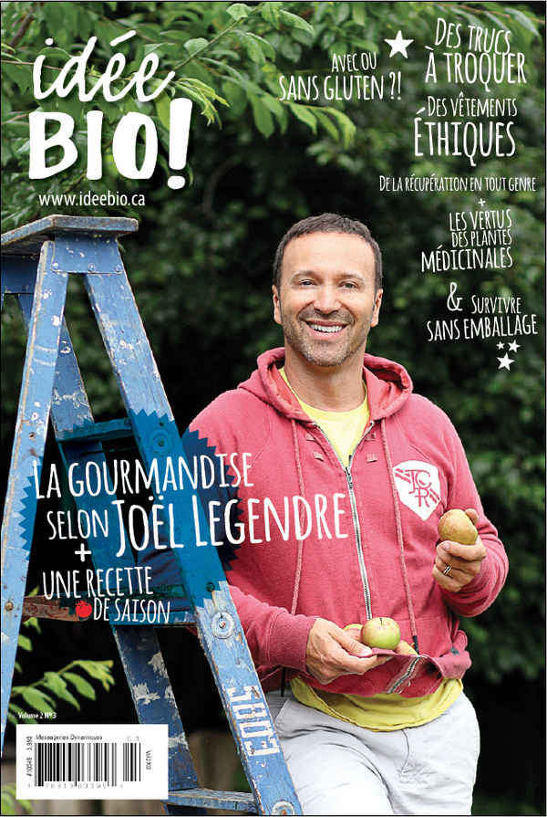 September's cover (idée BIO ! magazine) #apple #people #autumn #layout #magazine