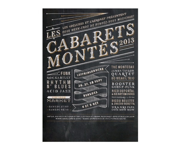Cabaret montés #chalk #lettering #poster
