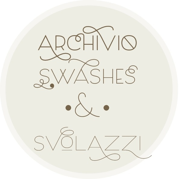 Archivio Swashes http://www.myfonts.com/fonts/resistenza/archivio/ #font #letters #serif #sans #myfonts #archivio #slab #type #typography