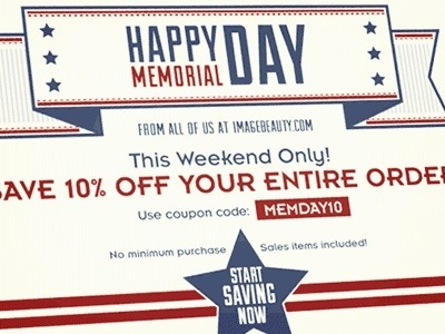 Dribbble - Memorial Day Sale by Aaron Pearson #happy #banner #design #memorial #typography