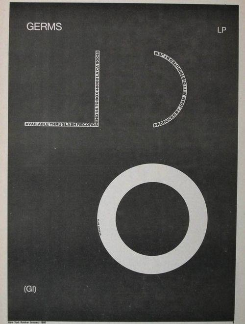 The Germs, G.I. album advertising, 1979
