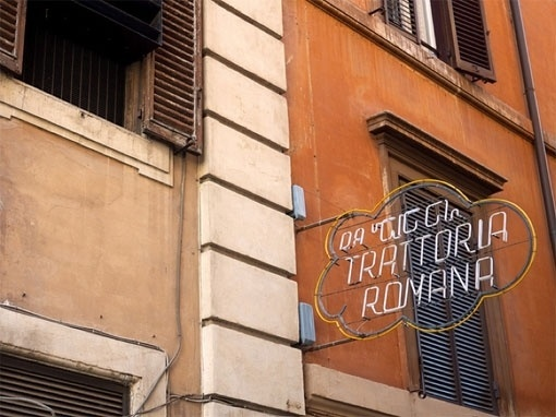 design work life » Typography in Rome #rome #cloud #sign #wall #vintage #signage #italy #neon