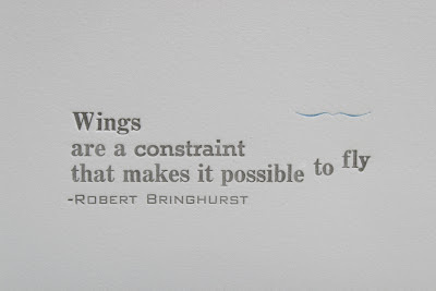 Letterpress Quote #quote #bringhurst #letterpress #robert