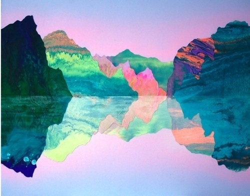 Film It / , #illustration #reflection #mountains #bright